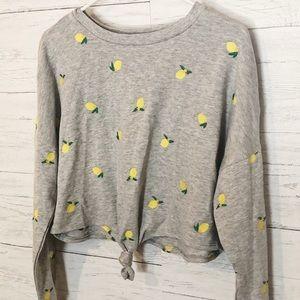 Nordstrom embroidered lemon 🍋 sweater